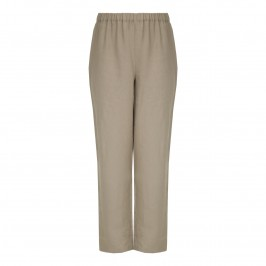 PERSONA wide leg linen TROUSERS - Plus Size Collection