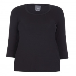PERSONA BY MARINA RINALDI BLACK JERSEY ROUND NECK TOP - Plus Size Collection
