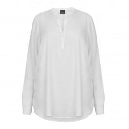 PERSONA silky ivory TUNIC shirt - Plus Size Collection