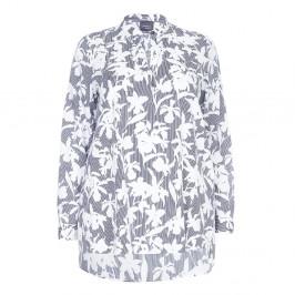 PERSONA Monochrome print cotton Tunic overshirt  - Plus Size Collection