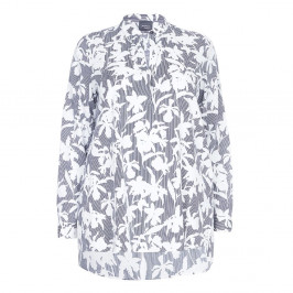 PERSONA Monochrome print cotton Tunic overshirt  - Plus Size Collection