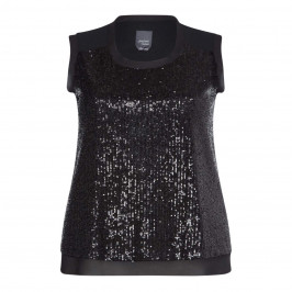 PERSONA BY MARINA RINALDI SEQUIN BLACK VEST - Plus Size Collection