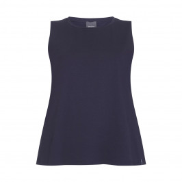 PERSONA BY MARINA RINALDI navy cotton jersey VEST - Plus Size Collection