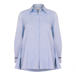 PIAZZA DELLA SCALA STRETCH COTTON SHIRT BLUE - Plus Size Collection