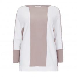Piazza Della Scala Slash-Neck Sweater - Plus Size Collection
