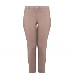 PIAZZA DELLA SCALA ANKLE GRAZER TROUSERS TAN - Plus Size Collection