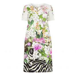 PIERO MORETTI TROPICAL PRINT DRESS