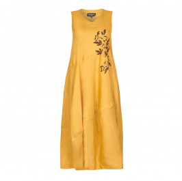 PIERO MORETTI EMBROIDERED PURE LINEN DRESS - Plus Size Collection