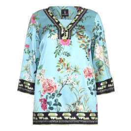 PIERO MORETTI peony print silk KAFTAN - Plus Size Collection