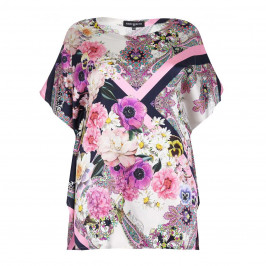 PIERO MORETTI pink print silk KAFTAN - Plus Size Collection