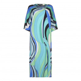 PIERO MORETTI embellished neckline Maxi Dress - Plus Size Collection