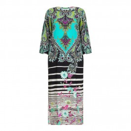 PIERO MORETTI aqua print silk maxi DRESS - Plus Size Collection