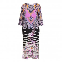 PIERO MORETTI pink print silk maxi DRESS - Plus Size Collection