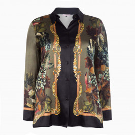 PIERO MORETTI PRINTED SILK SHIRT - Plus Size Collection