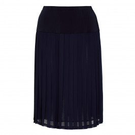PIERO MORETTI PLEATED SKIRT CHIFFON NAVY