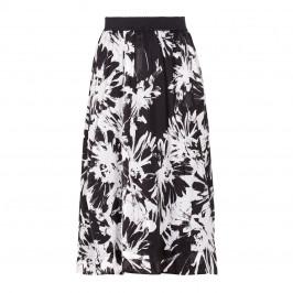 PIERO MORETTI ELASTICATED WAIST BLACK AND WHITE SKIRT  - Plus Size Collection
