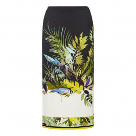 PIERO MORETTI botanical print midi SKIRT - Plus Size Collection