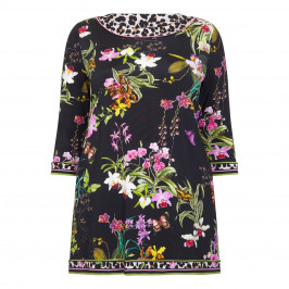 PIERO MORETTI FLORAL EMBELLISHED TUNIC - Plus Size Collection