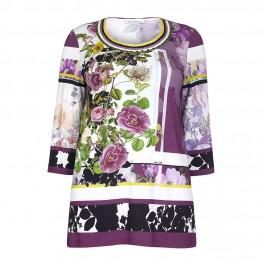 PIERO MORETTI floral jersey TUNIC - Plus Size Collection
