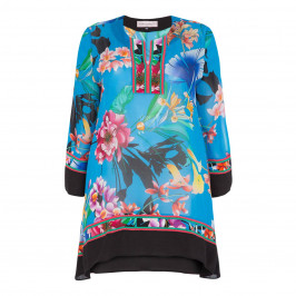 PIERO MORETTI CHIFFON PRINT TUNIC - Plus Size Collection