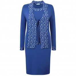 Musetti blue spots jersey 3 piece outfit - Plus Size Collection