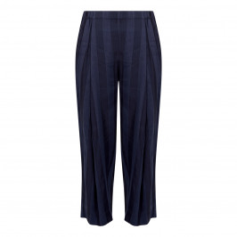 QNEEL STRIPE PULL ON TROUSER NAVY - Plus Size Collection