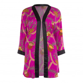 BEIGE LABEL KIMONO STYLE PRINTED JACKET - Plus Size Collection
