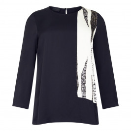 QNEEL TOP BLACK AND WHITE - Plus Size Collection