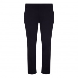 BEIGE TECHNOSTRETCH TROUSERS NAVY - Plus Size Collection