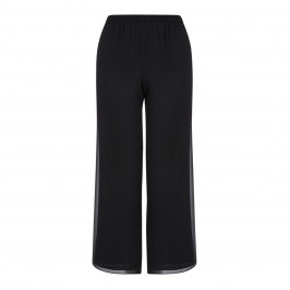 BEIGE LABEL BLACK PALAZZO TROUSER - Plus Size Collection