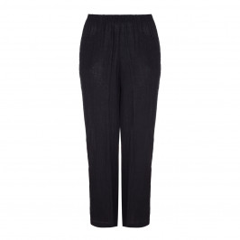 BEIGE LABEL black LINEN CHEESECLOTH TROUSERS - Plus Size Collection