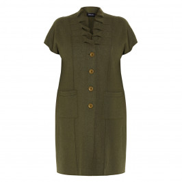 BEIGE BOILED WOOL WAISTCOAT GREEN - Plus Size Collection