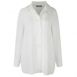 ELENA MIRO shirt style ivory JACKET - Plus Size Collection