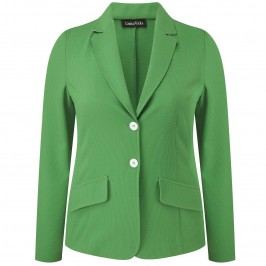 Luisa Viola green textured jersey JACKET - Plus Size Collection