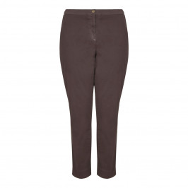 Marina Rinaldi brown stretch cotton TROUSERS - Plus Size Collection