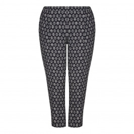 Marina Rinaldi Monochrome print TROUSERS - Plus Size Collection