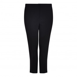 MARINA RINALDI BLACK ANKLE GRAZER TAILORED TROUSERS  - Plus Size Collection