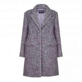 ROF AMO herringbone COAT - Plus Size Collection