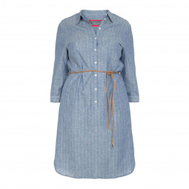 ROF AMO PINSTRIPE DENIM SHIRT DRESS - Plus Size Collection