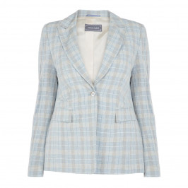 ROF AMO CHECK LINEN JACKET - Plus Size Collection