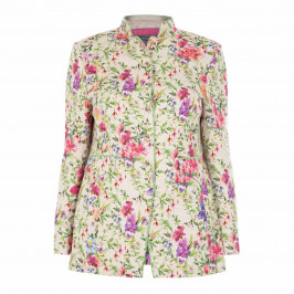 ROF AMO FLORAL PRINT JACKET - Plus Size Collection