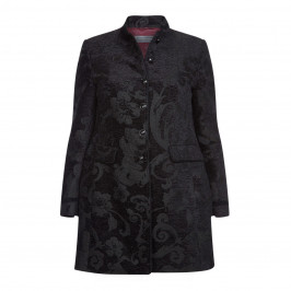 WHITE LABEL BLACK BROCADE JACKET - Plus Size Collection