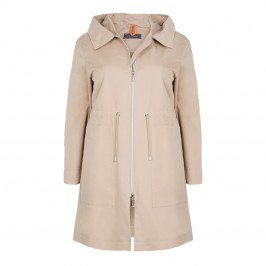 WHITE LABEL HOODED COAT - Plus Size Collection