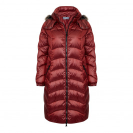 ROF AMO ruby PUFFA COAT with fur-trimmed hood - Plus Size Collection