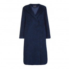 Rof Amo alpaca mohair blue COAT - Plus Size Collection