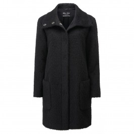 ROF AMO BLACK WOOL-ALPACA BLEND COAT - Plus Size Collection