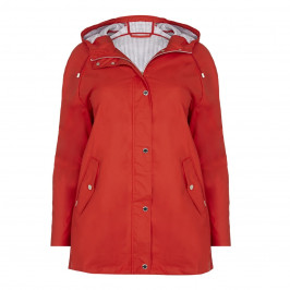 ROF AMO red showerproof JACKET - Plus Size Collection
