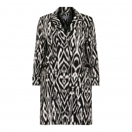 WHITE LABEL IKAT PRINT JACKET - Plus Size Collection