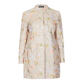 BEIGE LABEL LINEN EMBROIDERED FLORAL JACKET