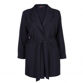SALLIE SAHNE NAVY PINSTRIPE JACKET - Plus Size Collection